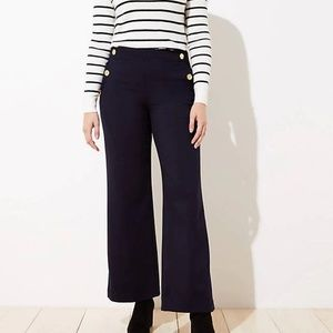 LOFT Sailor High Waist Wide Leg Pants in Curvy Fit